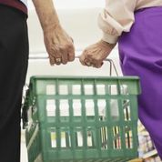 Older couple supermarket
