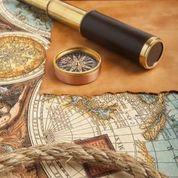 Map compass telescope