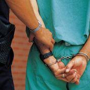 Woman handcuffs