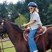 Woman horseback