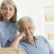 Older couple looking at camera
