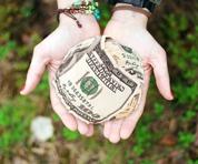 Hands money world