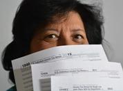 Taxes woman
